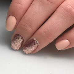 rose gold hygge nails