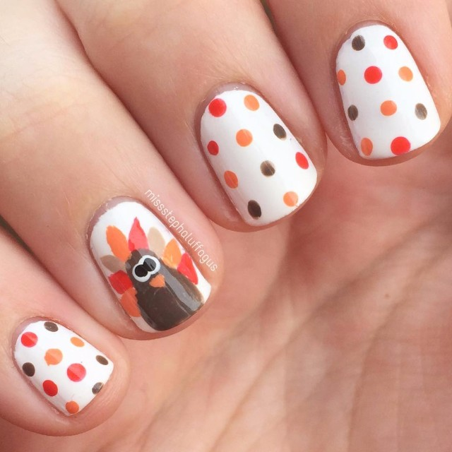 40 Cute And Easy Thanksgiving Nails 2018 Nailspiration