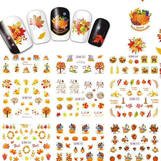 thanksgiving-nail-decals