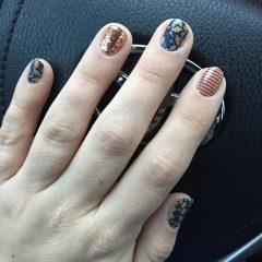short gel nails for Thanksgiving