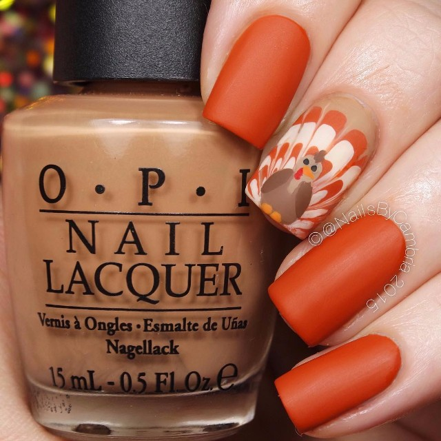orange-thanksgiving-nail-color