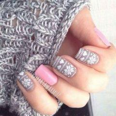 HYGGE sweater nails design