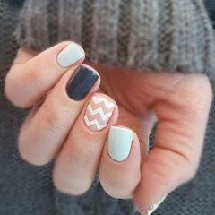tender nail design with chevrons