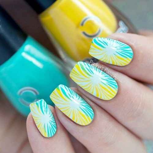 blue-and-yellow-nail-design-for-coachella-weekend