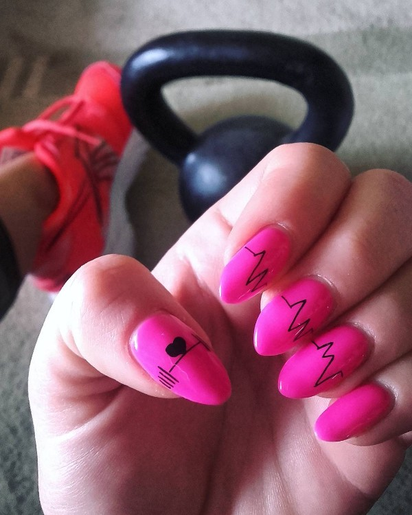bright-pink-gym-nails-heartbeat