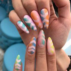 colorful-festival-nails-for-coachella