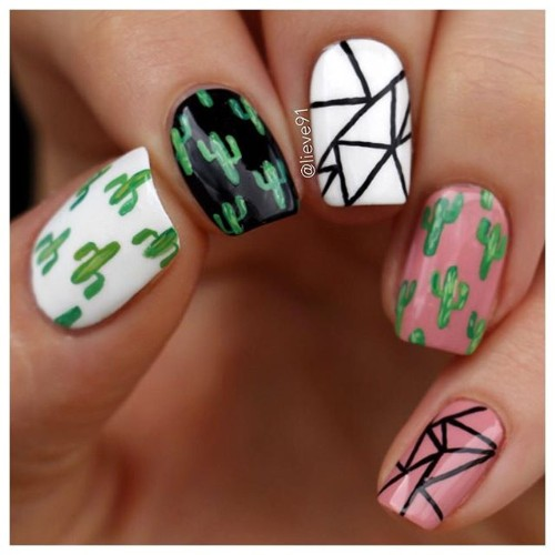 fun-cactus-nails-for-coachella