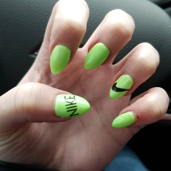 light-green-nike-nails