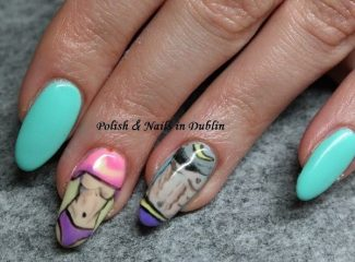 nail design fitness motivation