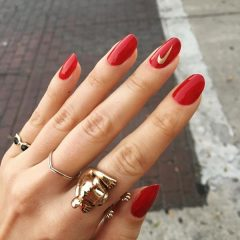 red-and-gold-nike-nails