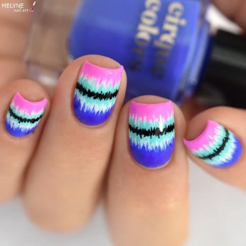tie-dye-coachella-nail-design - 50+ Coachella Nails For 2019`s Festival NAILSPIRATION