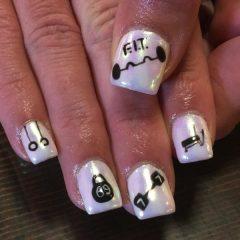 white-workout-gym-nails