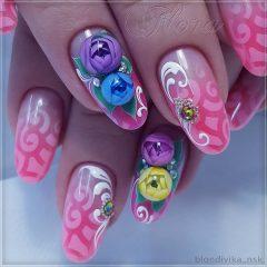 aeropuffing and candy ball manicure