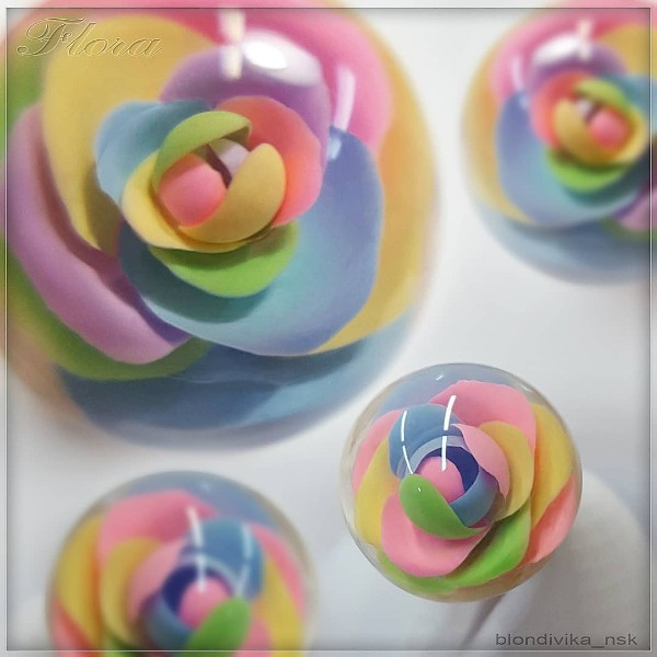 candy ball colorful roses
