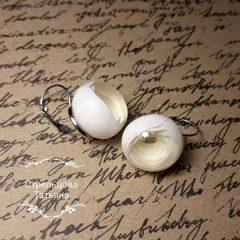 flower ball earrings