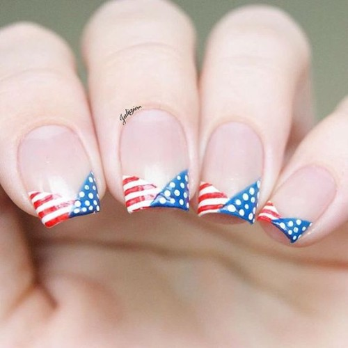 independence-day-nails-with-french-tips