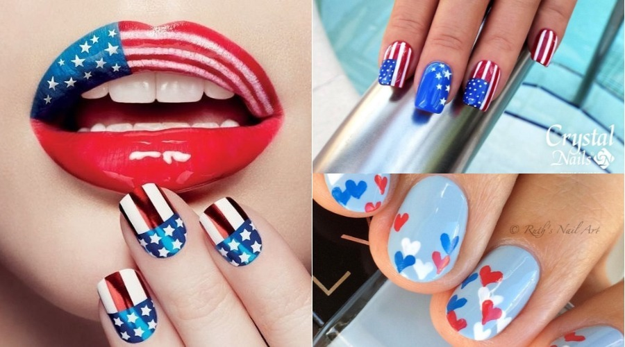 best patriotic 4th of July nails