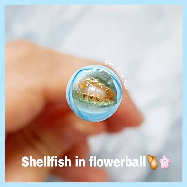 summer beach candy ball nail design