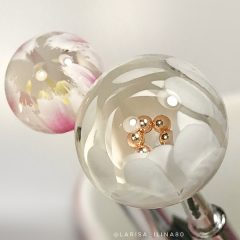 white clear candy ball
