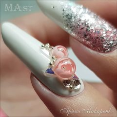 white long nails with candy ball