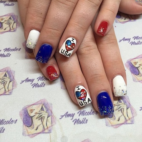 I-love-USA-patriotic-nails