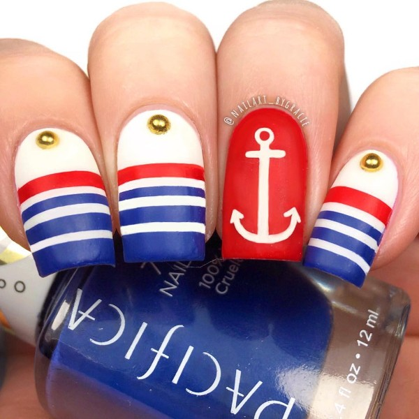 blue-red-white-nail-design