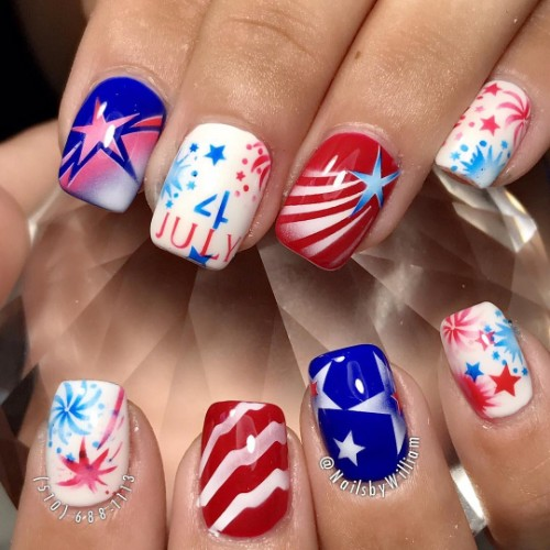 captain-America-nail-design