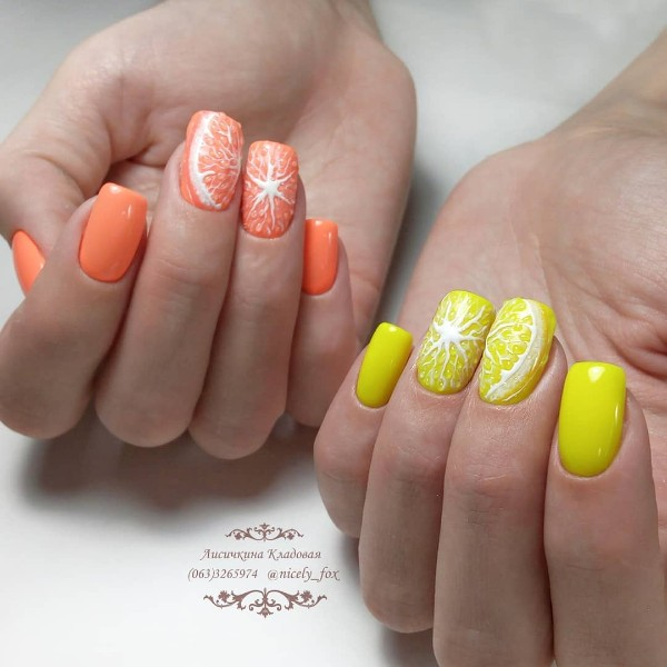 citrus-nail-design-for-summer