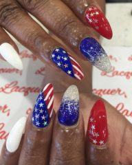 independence-day-nails-for-dark-skin