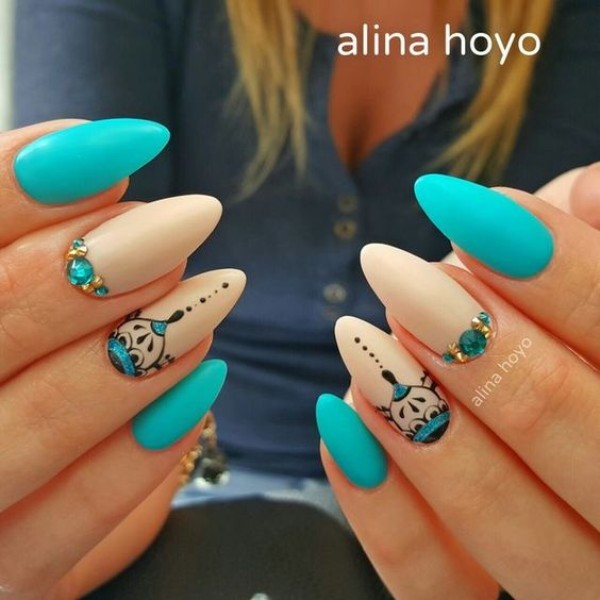 light-blue-summer-nails