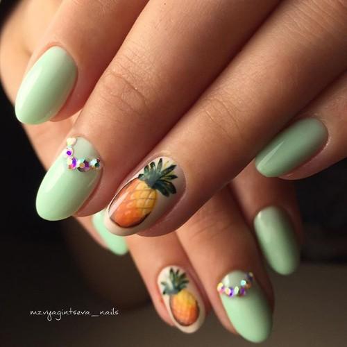 Pineapple Nail Designs 90 Totally Fabulous Mani Ideas Nailspiration