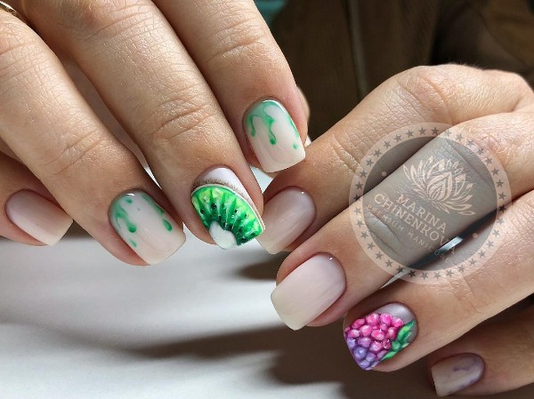 nude-nail-design-with-fruits
