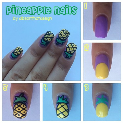 pineapple nail art tutorial