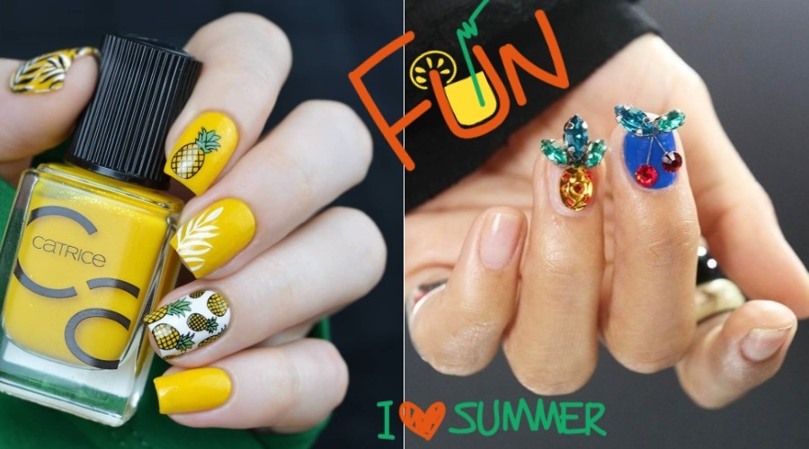 best pineapple nail designs