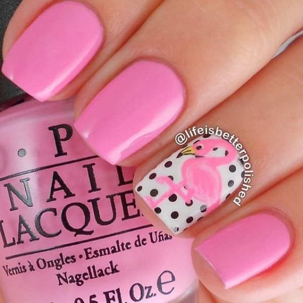pink-flamingo-nails-summertime