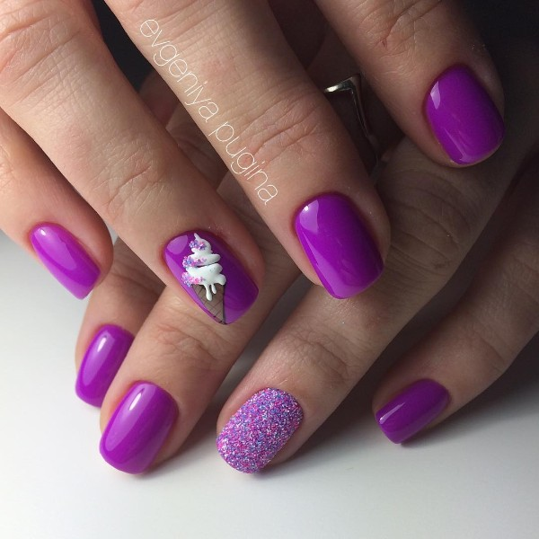 purple-nail-design-with-ice-cream