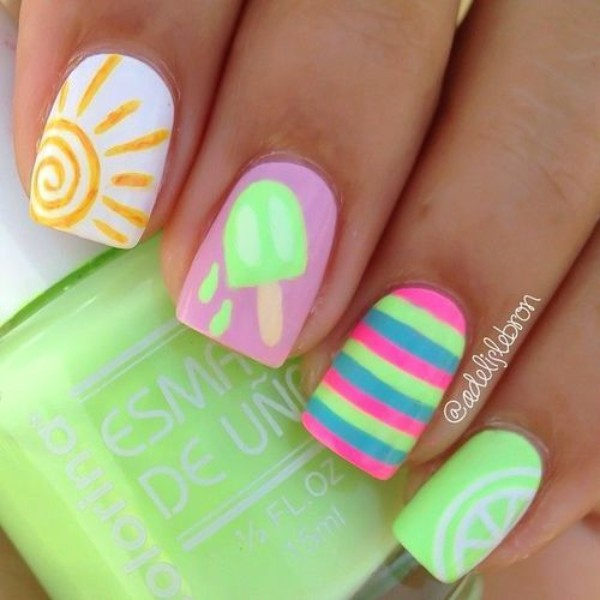 summer-ice-cream-nail-design