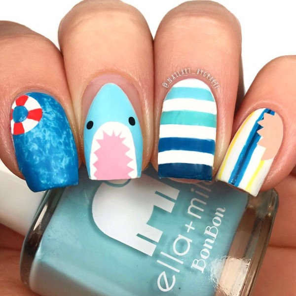 summer-nails-with-shark