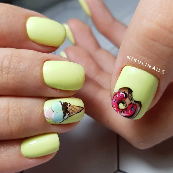 summertime-manicure-with-icecream-and-doughnut