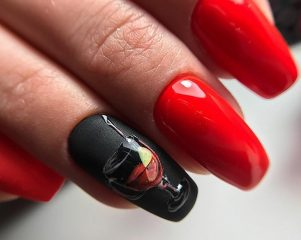 bordo-wine-themed-nail-design