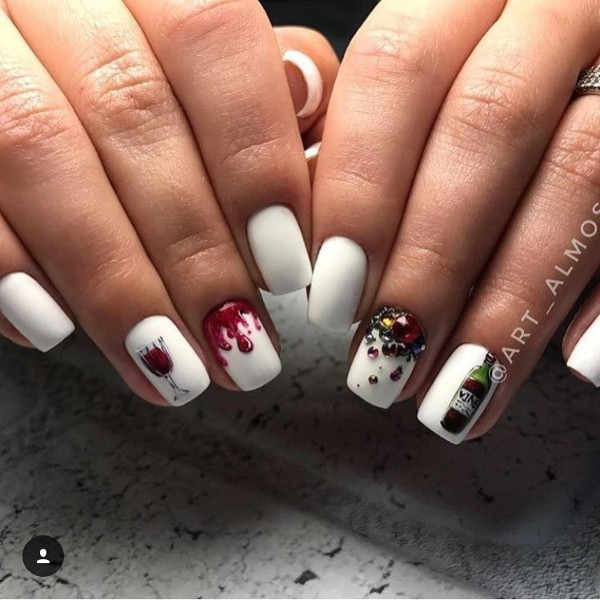 white-wine-themed-nails-with-rhinestones