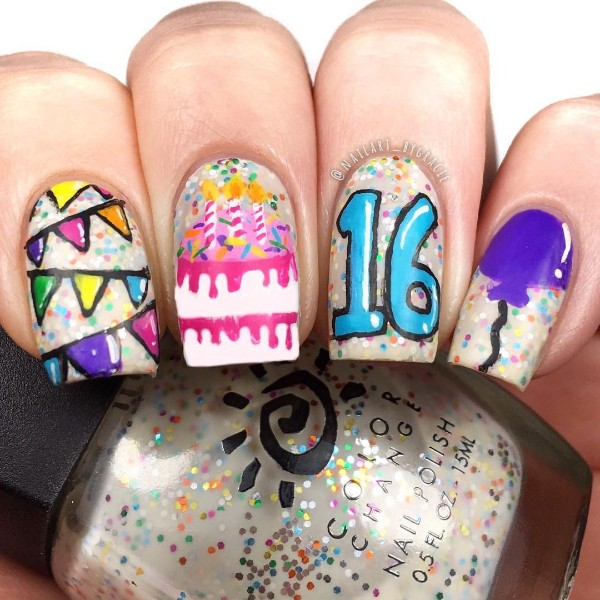 16th-birthday-nails