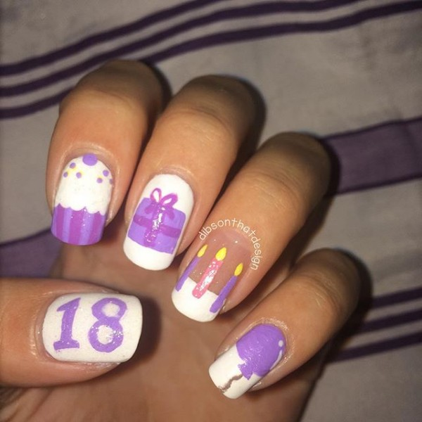 18th Birthday Nails