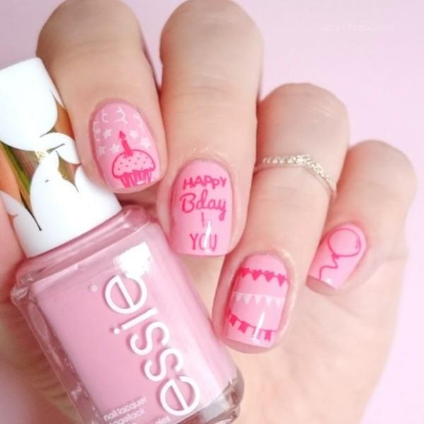 happy-birthday-nails-pink