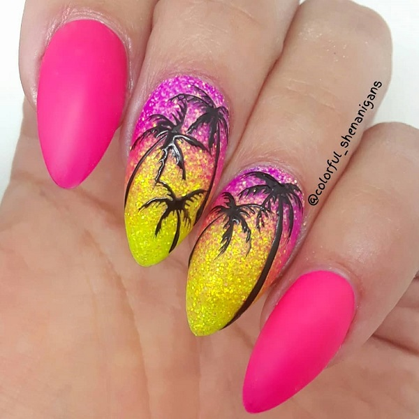 pink-palm-tree-nails-summer