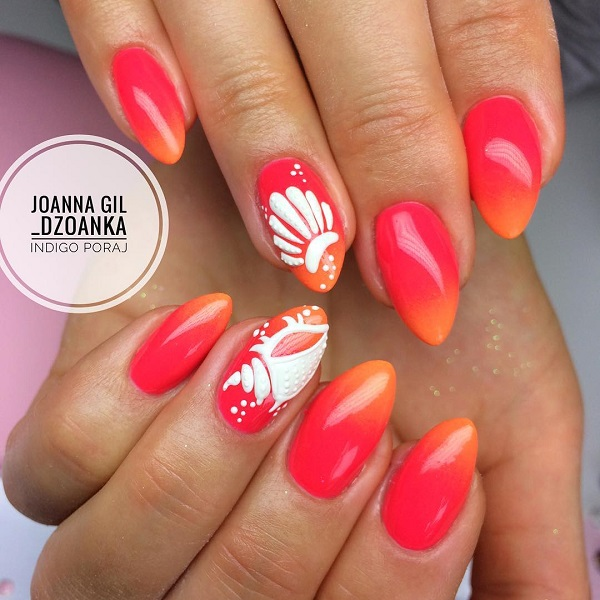 red-ombre-summer-nails