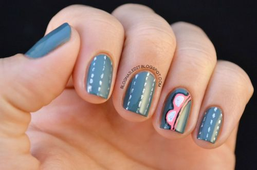 sunglasses-nail-design-for-summer