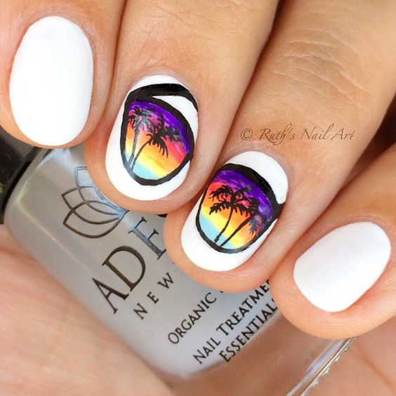 white-sunglasses-nail-design