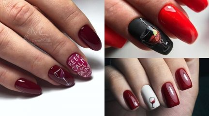 35 NEW Wine Nail Designs (w/ Wine Glass & Wine Bottle)