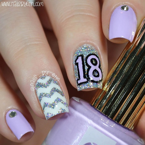 18th-birthday-nails - Birthday Nails: New Ideas For 2018-2019 NAILSPIRATION